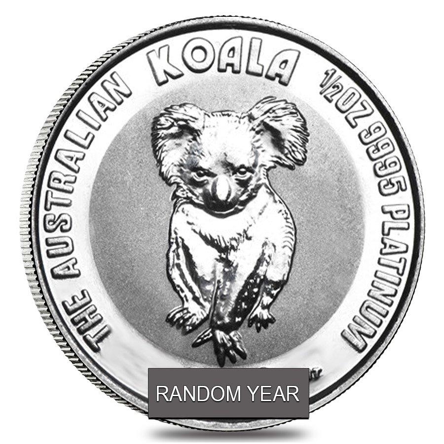 1 2 Oz Platinum Australian Koala Coin Bu Random Year Ebay