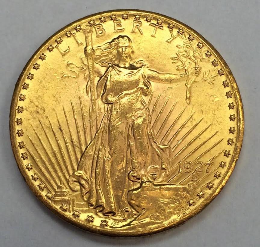 1927 20 Saint Gaudens Double Eagle Beautiful Gold Coin Ebay